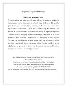 Prayer for Judges & Lawyers 2010