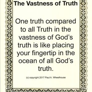 vastness truth one analogy finger in ocean all